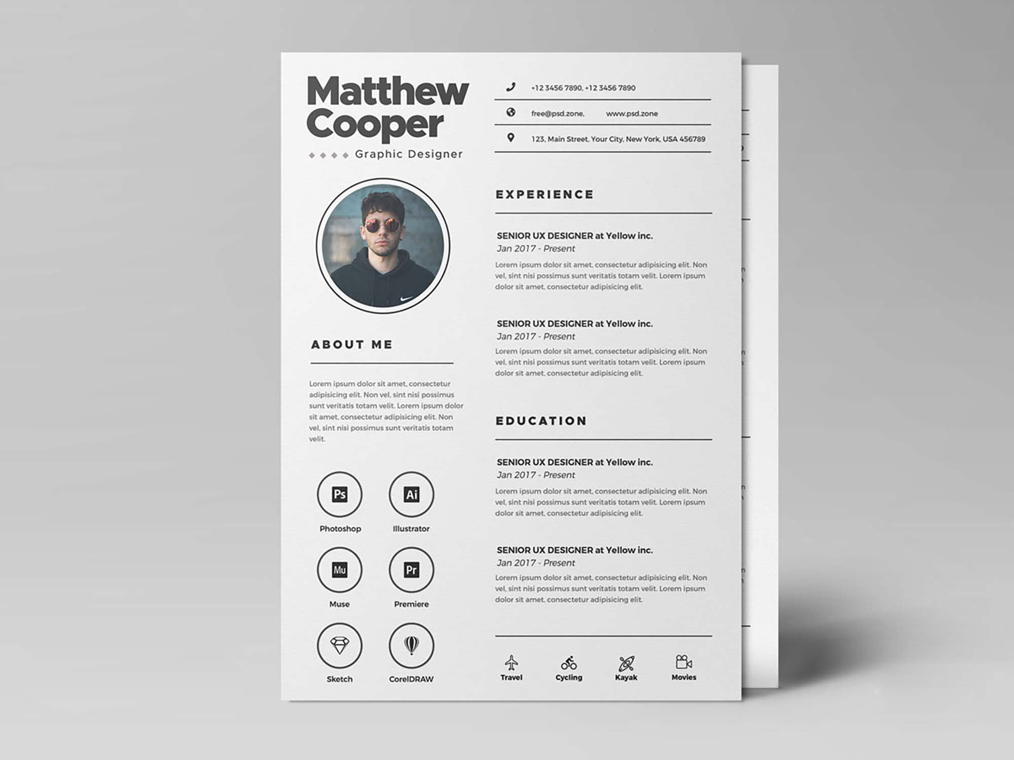 Clean Resume Template Free By Psd Zone